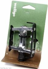 "Wellgo R25 - Silver w/ Black Cage Alloy Bike Pedals Track Fixed Gear Road 9/16"""