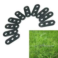 10Pcs Camping Tent Guy Rope Line Tensioners 3 Holes W6Y9 Bent Runners H1O7