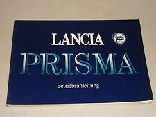 Betriebsanleitung Handbuch Lancia Prisma, Stand 01/1987