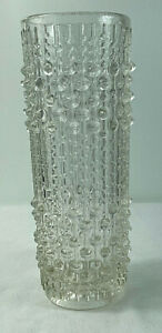 Mid Century Sklo Union Factory Hermanova Hut Glass Candle Wax Vase