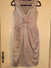 veronica maine 8 Silk Look Elegant V-neck Knee Length Dress, Great For Races