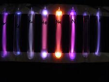 Ampullen 120/18 mm Komplett Set Gase H N O Ne He Ar Kr Xe 99,999 % geissler tube