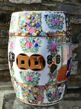 More details for large old porcelain chinese garden seat highly decorated ceramic stool