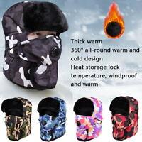 Winter Thermal Fleece Bandana Scarf Ski Face Cover Neck Warmer Snood Hood Hat !