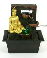 Buddha Indoor Tabletop Water Fountain w/Color Changing LED Light