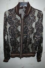 TRICOT CHIC Top Cardigan EUC Size USA 12 Italy Bomber Zip Jacket Silk Blend