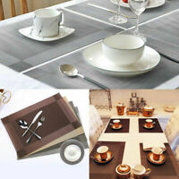 Washable Heat Insulation Placemats Dining Table Mat Tableware Coaster Kitchen