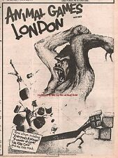 LONDON Animal Games 1978 UK Press ADVERT 10x8 inches