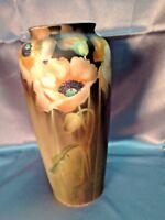 Stunning Antique Vintage Hand Painted Porcelain Nippon Porcelain Poppy Vase