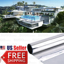 "3FTx12"" One Way Mirror Home Office Privacy 35% Window Tint Reflection Film Solar"