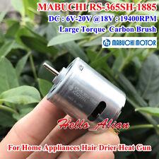 MABUCHI RS-365SH-1885 DC6V-20V 12V 18V 19400RPM High Speed Carbon Brush DC Motor
