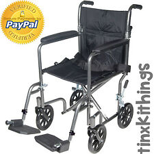 Portable Medical Folding Wheel Chair with Swing Away Adult Foot Rest Lightweight
