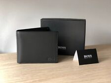 Hugo BOSS Men's Black Leather Wallet 'Asolo', Bi-fold, Style 50250331