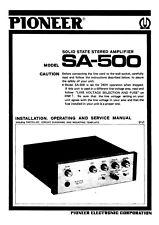 Bedienungsanleitung-Operating Instructions für Pioneer SA-500