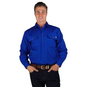 8.King River Royal Half Button Work Shirt Ringers Western
