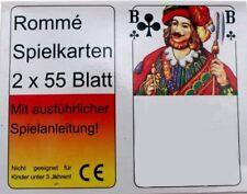 2x55 Rami cartes Jeu de Canasta Bridge Skat Poker