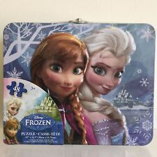 NEW, Disney Frozen Metal Lunch Box + 48 Jigsaw Puzzle