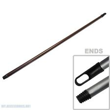 BROWN Threaded Aluminium / Plastic Broom Mop Handle 1.08m x 21mm Thick Brush