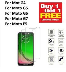 Motorola Moto G7 /Power /Play /E5 /G6 Tempered Glass Guard Film Screen Protector