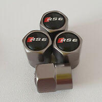 AUDI RS6 Gun Metal Grey Wheel Valve Dust caps all models S LINE TT RS 6 more