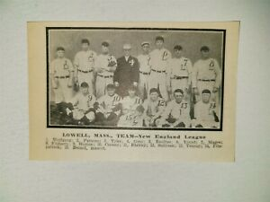 Lowell Tigers 1910 Team Picture Fred Tenney Jake Boultes Billy Cooney