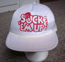 HAWAII Suck 'Em Up bar trucker cap 1980s party lounge Kapolei travel hat