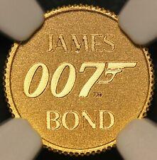 2020 Tuvalu $2 James Bond 007 0.5 gram .9999 Gold Coin - NGC MS 70