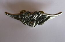 V Twin Eagle wings Top Quality Lapel Pin Badge - Biker Mens Shed Motorcycle