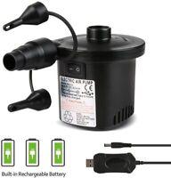 Pompe à Air Électrique, 2 en 1 Rechargeable Gonfleur Degonfleur Electrique Pompe