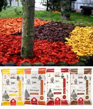 Wood Chip Coloured Garden Mulch 50L Flower Bark Wedding Decorative Landscape