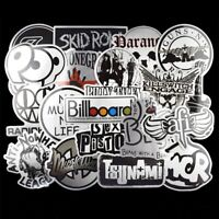 50 Metalic Rock Stickers Metal Punk Bands Guitar Amp Music Decals Stickerbomb