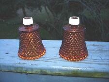 """Set Of 2 Votive Glass Candle Holders Beaded 3 1/2"""" Oa Height"""