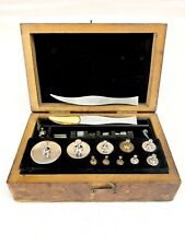"Antique Vintage Tools ""Fisher U.S.A""  Scale Weight Set with Wood Case"