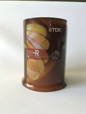 New TDK DVD-R 100 Pack Spindle Recordable Disks 16X 4.7GB Sealed DVDs