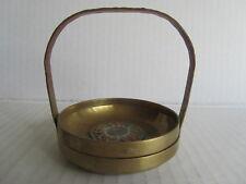 Beautiful Antique Chinese Enamel Brass Basket