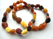 Two Natural Raw Baltic Amber Bracelet - Elastic Stretch-
