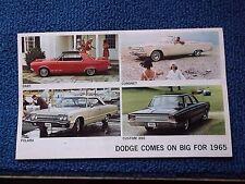 1965 Dodge Folder Brochure All Models