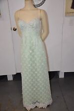 San Carlin Saks Fifth Avenue - Mint & Lace Gown Size 4 - 6 Incredible Condition