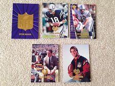 (5) Peyton Manning Collectors Edge Destiny Cards, 2000, Mint