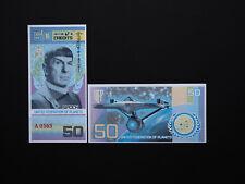 Brilliant Banknotes STAR TREK New Release  $50 notes - Excellent colour MINT UNC