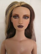 Emilie Repaint Nude Tonner Doll Blonde Part Reroot Small Bust BW Body Piercings