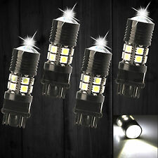 4X 3157 Switchback White 6000k  LED Turn Signal Light LED light Bulbs