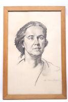 """Bleistiftzeichnung Portrait """"Frau K."""" von Hans Härdtlein"""
