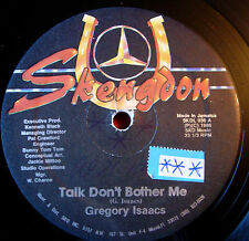 "Gregory Isaacs Talk Don't Bother Me US 12"" Lovers Skengdon b/w Talking Dub VINYL"