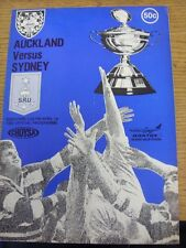19/04/1980 Rugby Union Programme: Auckland v Sydney (Folded, Team Changes)