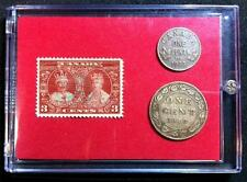 King George V  Queen Mary Silver Jubilee  1910  1935 Stamp & Coin Set