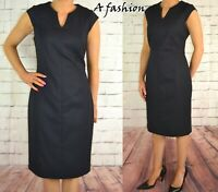 NEXT RRP £40 LADIES NAVY BLUE WORK WEAR DRESS UK 10-24 REG & TALL 598
