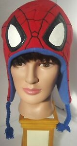 Winter Hat Ear Flaps Tassels, Boys 6 years or more, Spider-Man Marvel