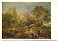 1986s Landscape with Polyphemus VERY RARE Russian Soviet postcard by Poussin