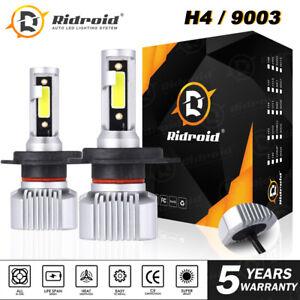 Ridroid H4 9003 HB2 LED Bulb Motorcycle Headlight Hi/Lo Beam White 6000K 1PAIR